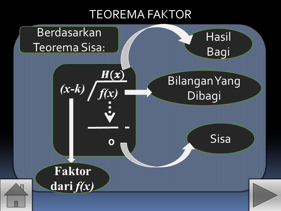 Berdasarkan Teorema Sisa: