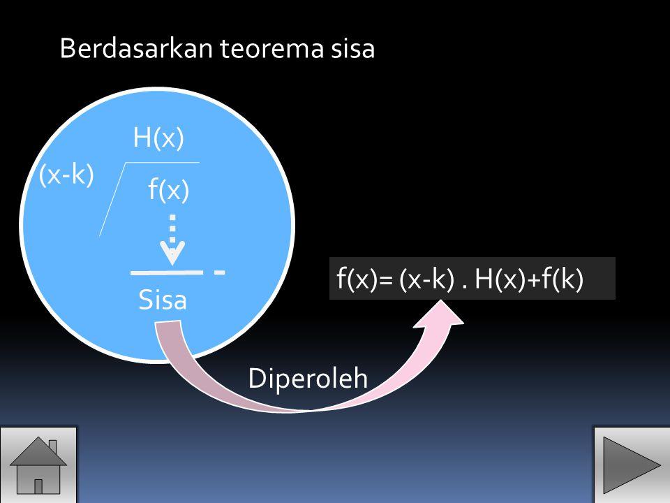 Berdasarkan teorema sisa
