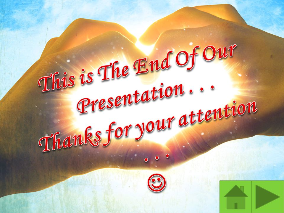 This is The End Of Our Presentation . . .