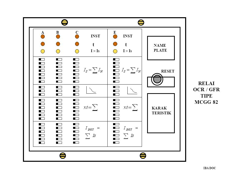 RELAI OCR / GFR TIPE MCGG 82