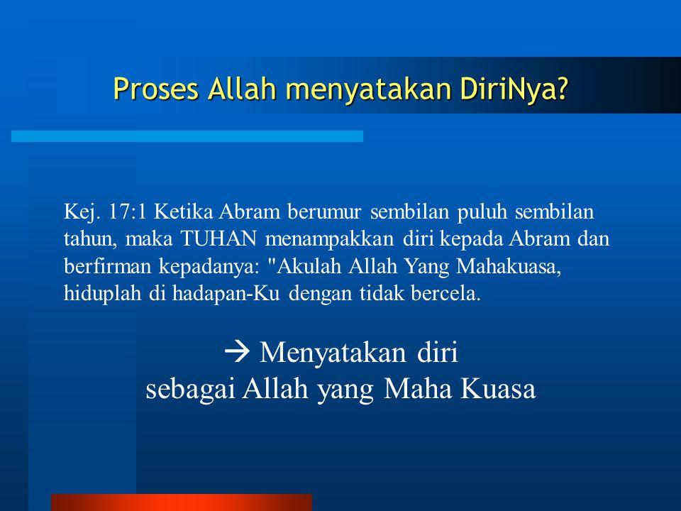 Proses Allah menyatakan DiriNya
