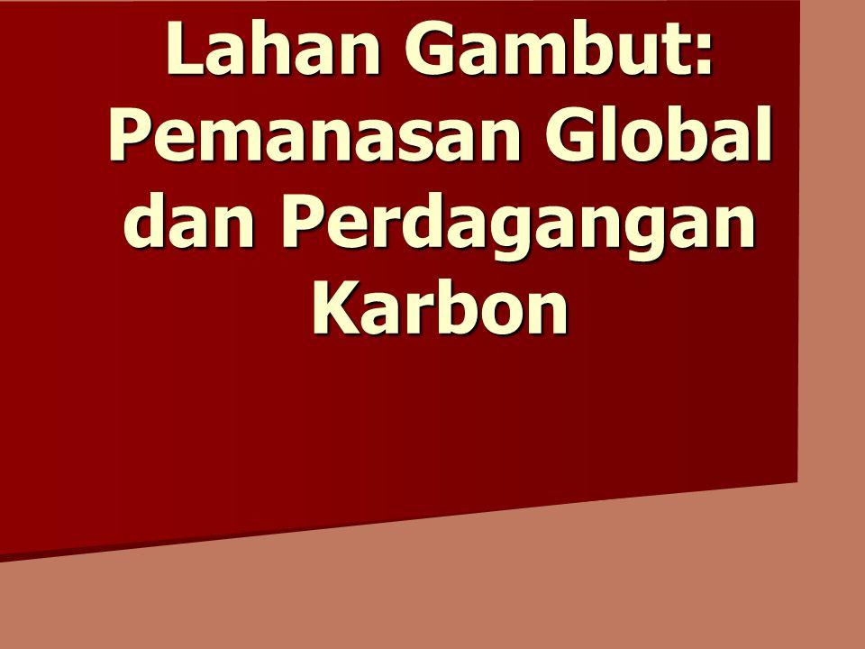 Lahan Gambut: Pemanasan Global dan Perdagangan Karbon