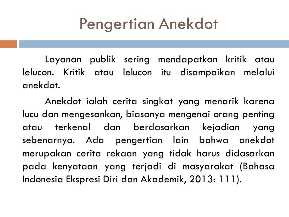 Pengertian Anekdot