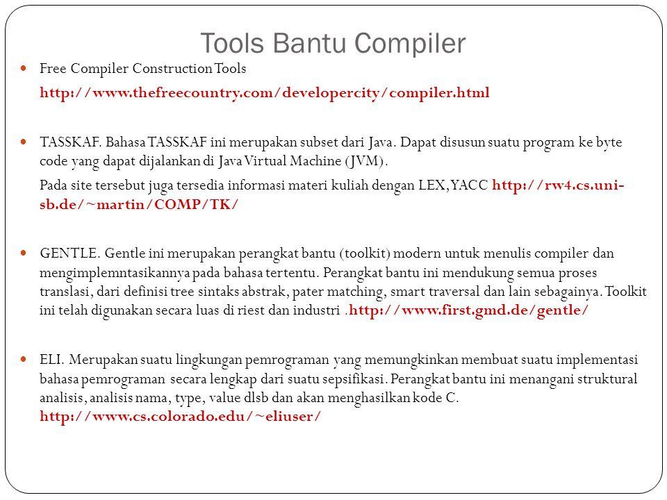Tools Bantu Compiler Free Compiler Construction Tools