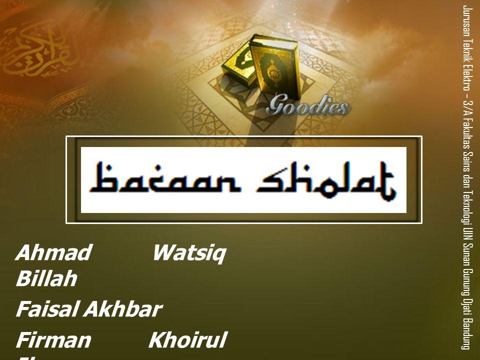 Ahmad Watsiq Billah Faisal Akhbar Firman Khoirul Ihsan
