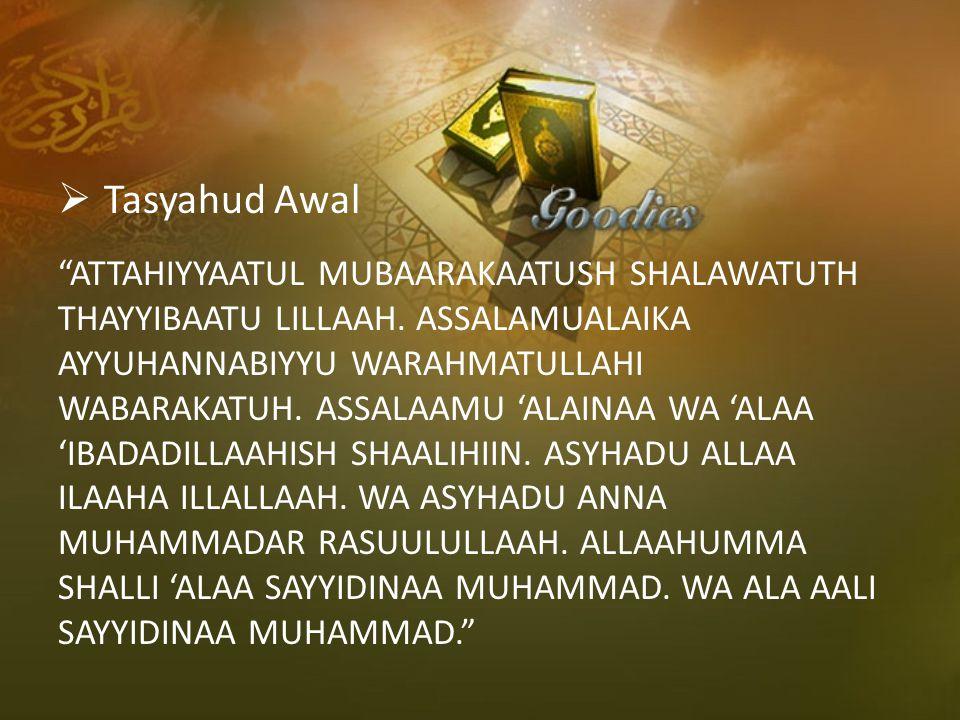 Tasyahud Awal