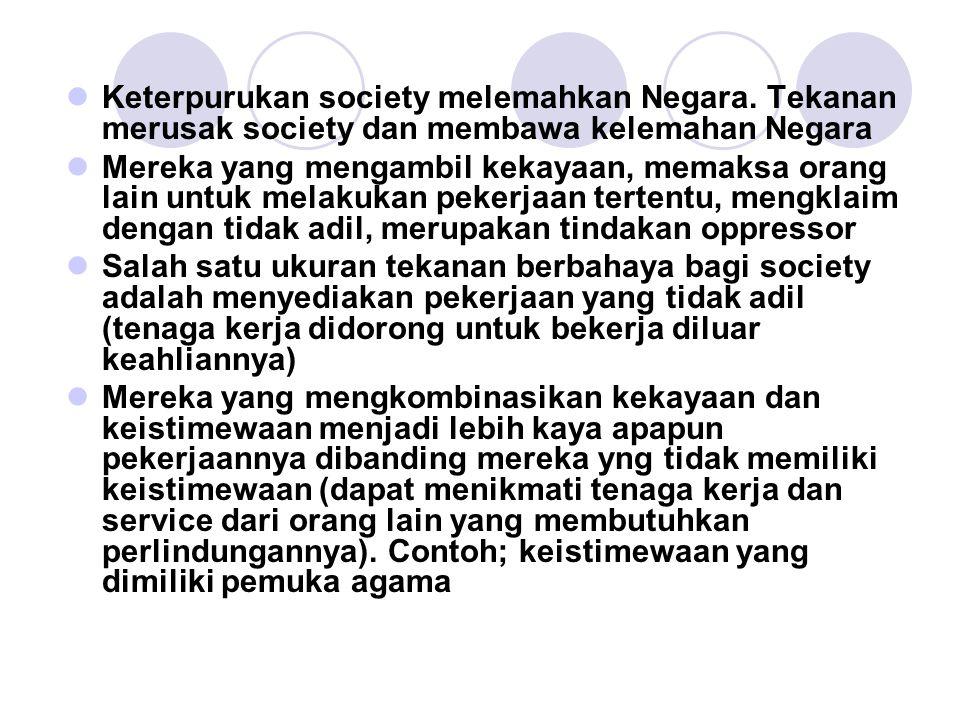 Keterpurukan society melemahkan Negara