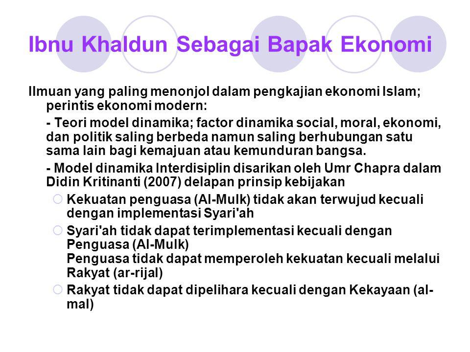 Ibnu Khaldun Sebagai Bapak Ekonomi