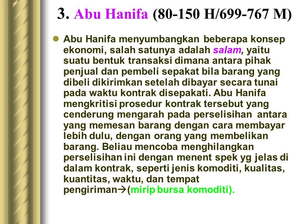 3. Abu Hanifa (80-150 H/699-767 M)
