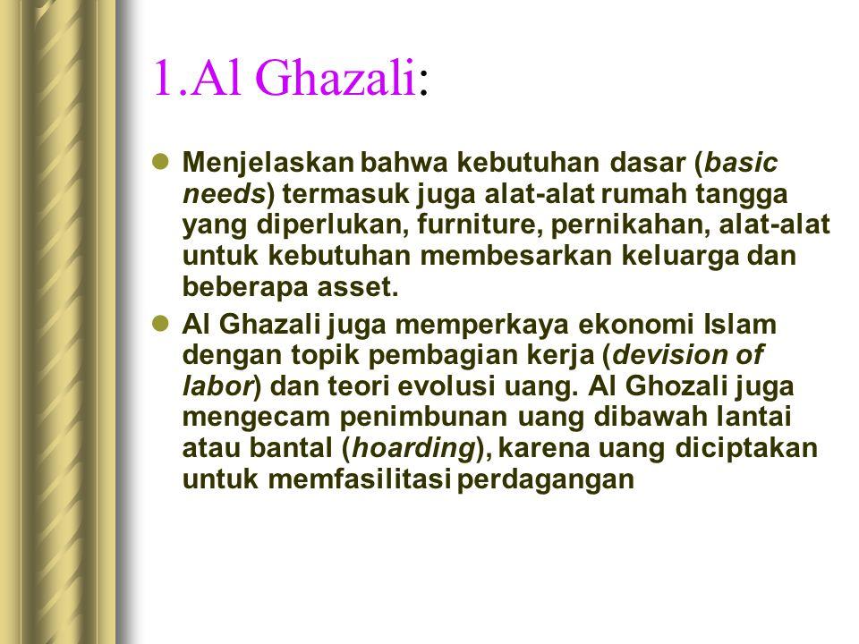 1.Al Ghazali: