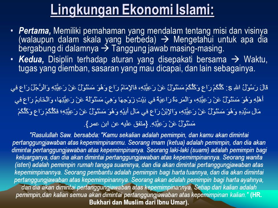 Lingkungan Ekonomi Islami: