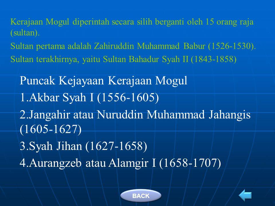 Puncak Kejayaan Kerajaan Mogul Akbar Syah I (1556-1605)