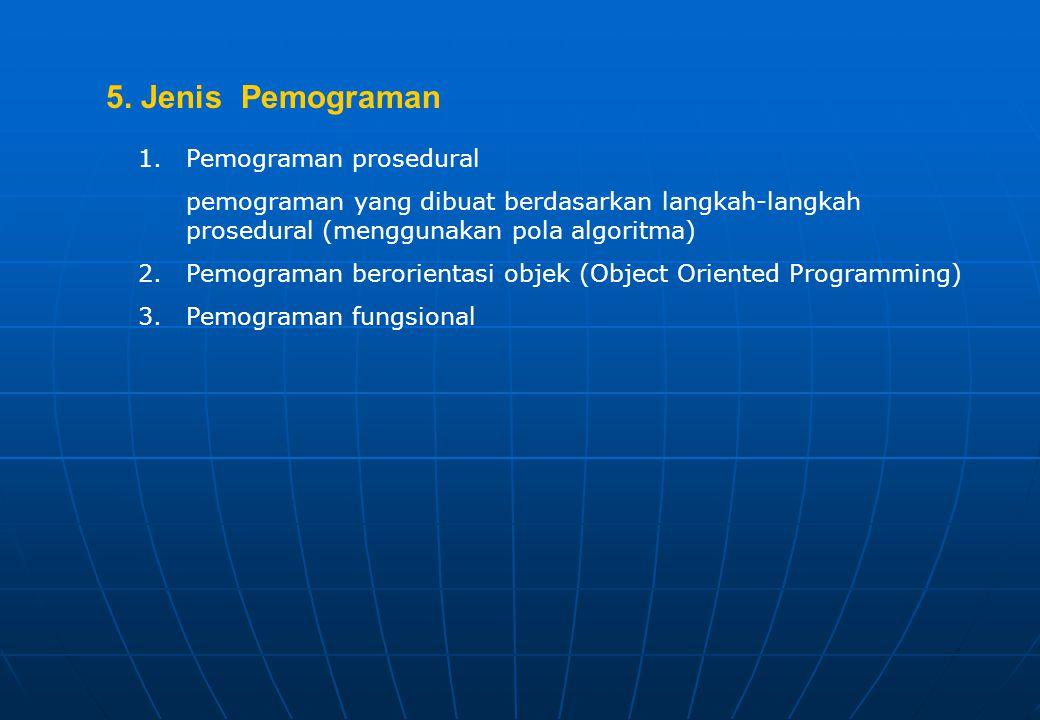 5. Jenis Pemograman Pemograman prosedural
