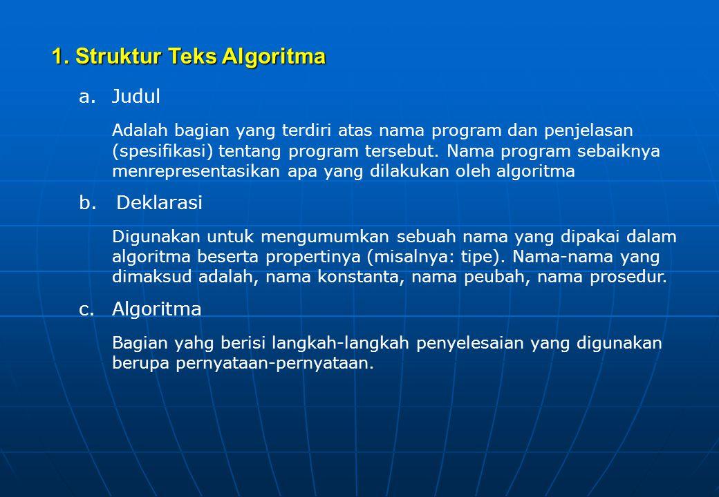 1. Struktur Teks Algoritma