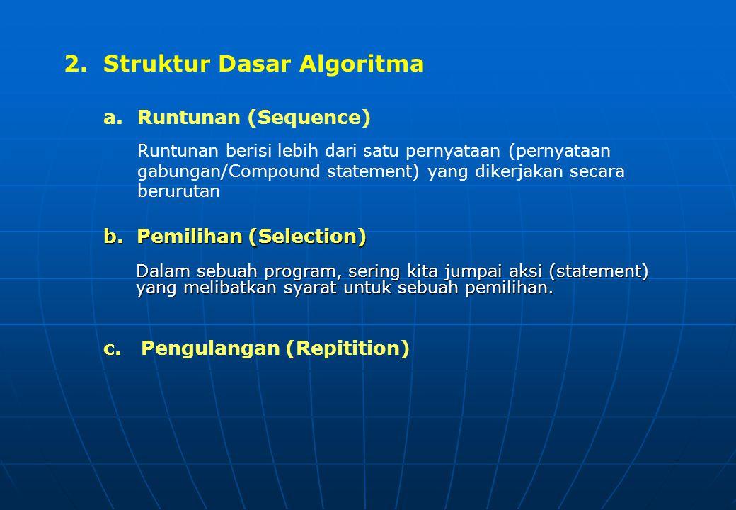 2. Struktur Dasar Algoritma