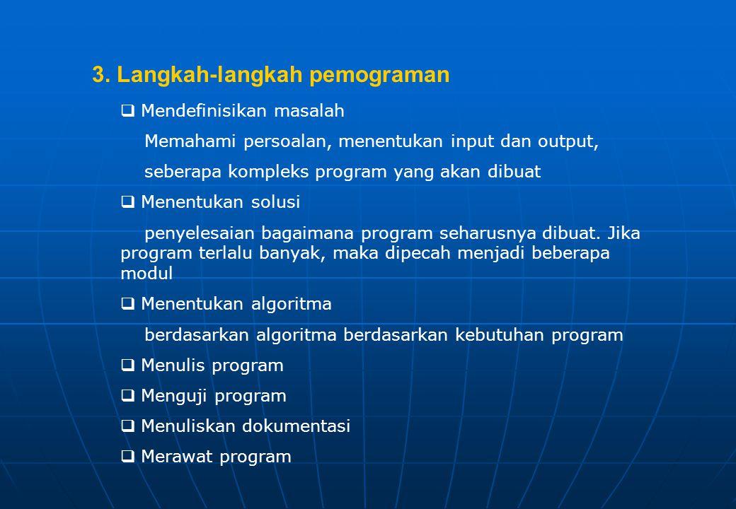 3. Langkah-langkah pemograman