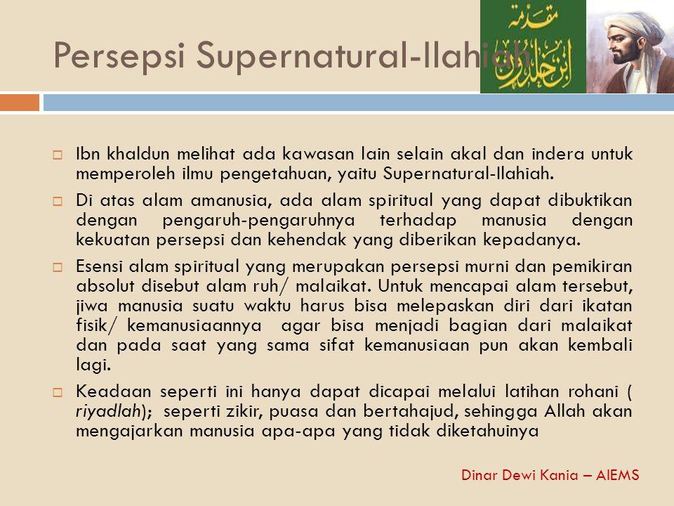 Persepsi Supernatural-Ilahiah