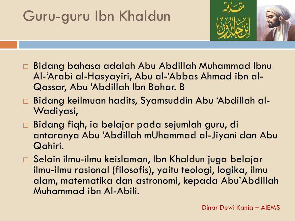 Guru-guru Ibn Khaldun