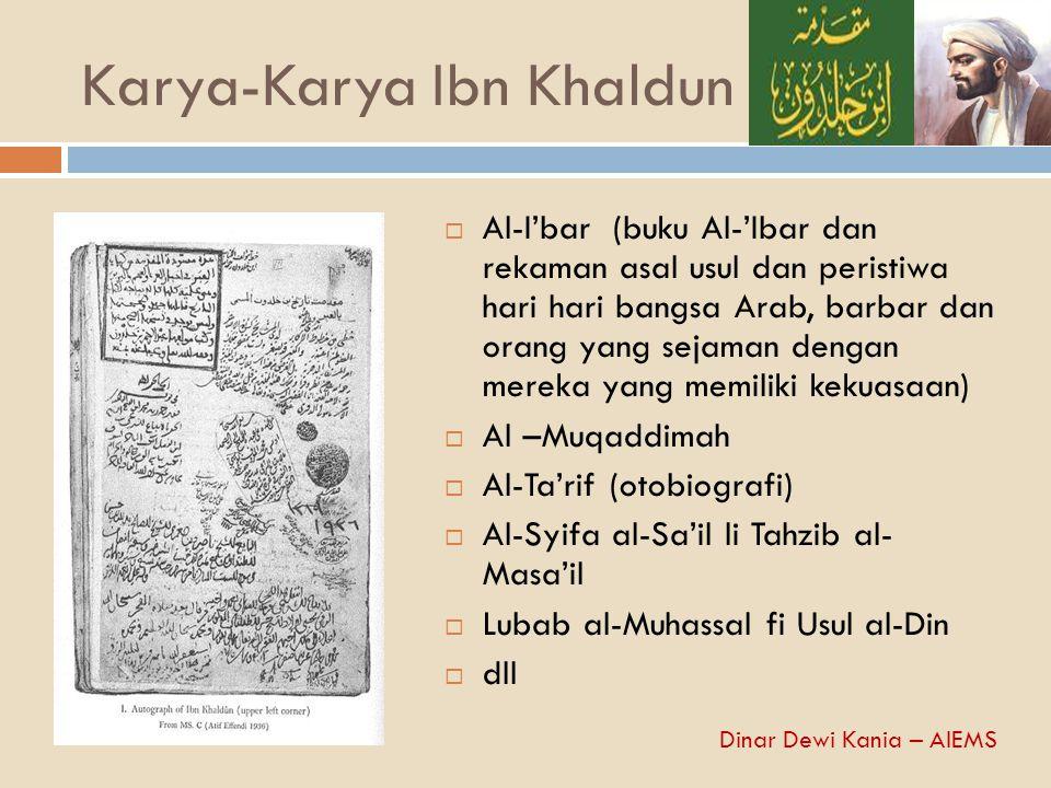 Karya-Karya Ibn Khaldun