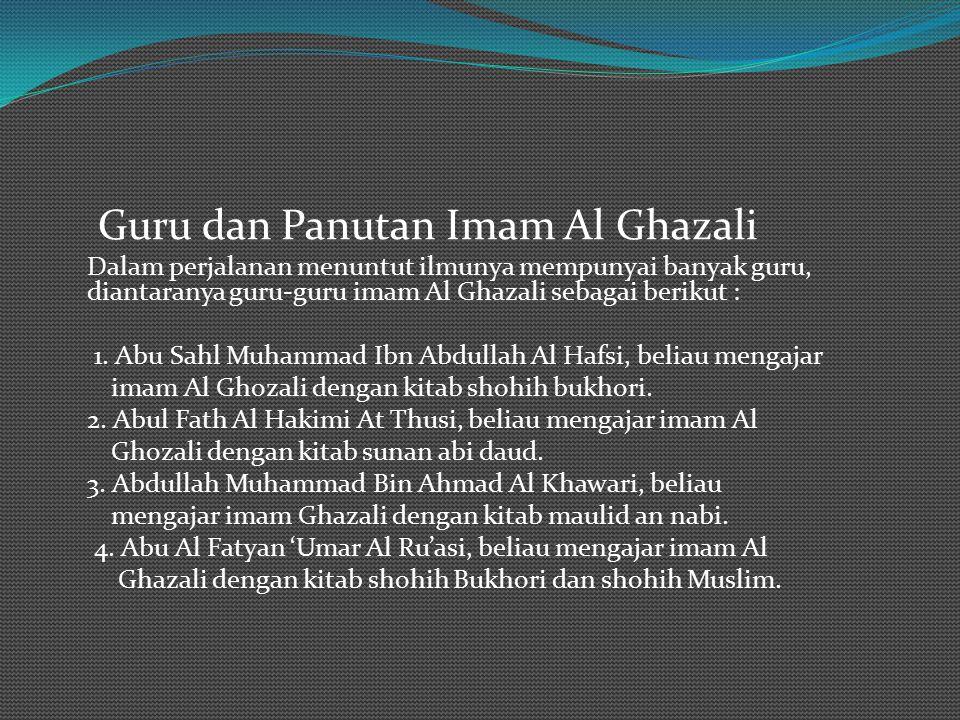 Guru dan Panutan Imam Al Ghazali