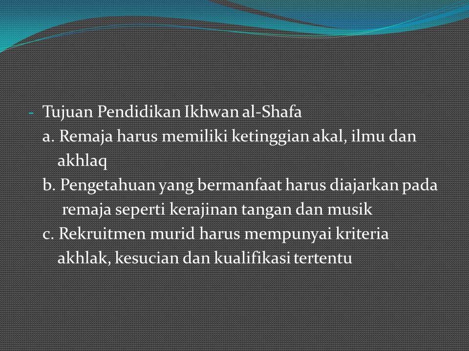 Tujuan Pendidikan Ikhwan al-Shafa