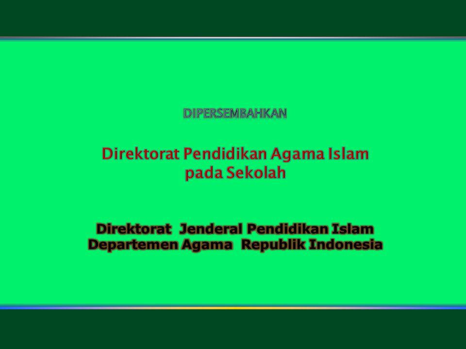 Direktorat Pendidikan Agama Islam pada Sekolah