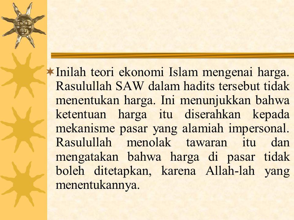 Inilah teori ekonomi Islam mengenai harga