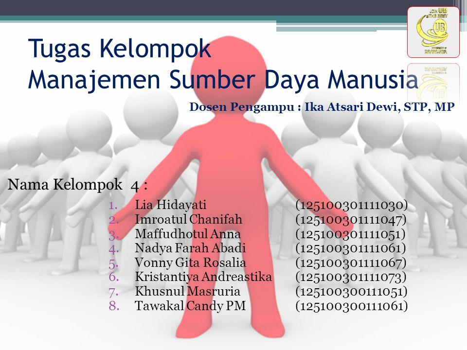 Tugas Kelompok Manajemen Sumber Daya Manusia