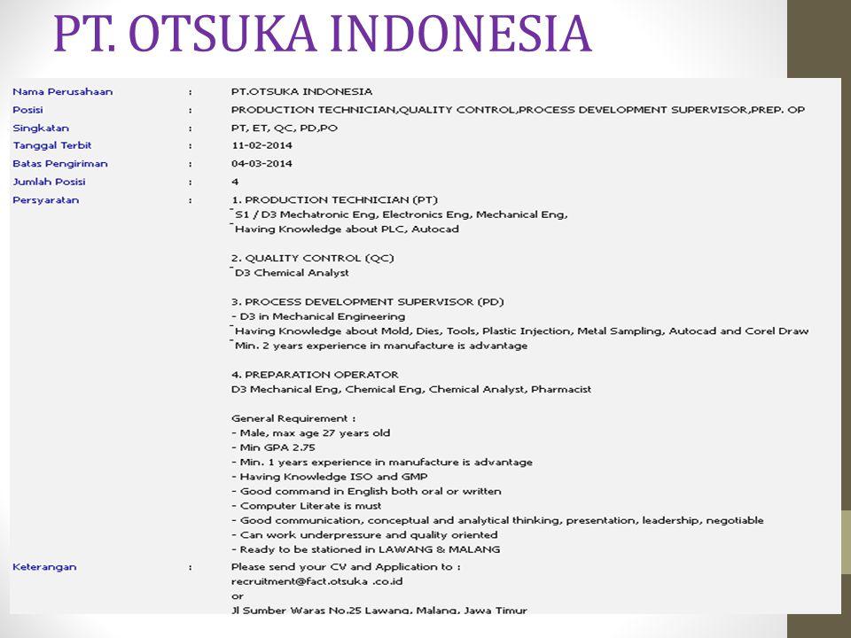 PT. OTSUKA INDONESIA