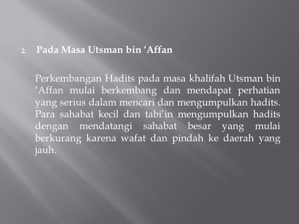 Pada Masa Utsman bin 'Affan