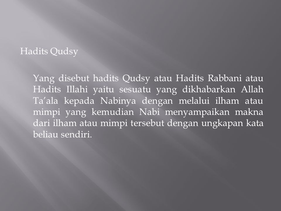 Hadits Qudsy