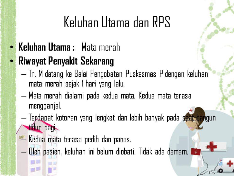 Keluhan Utama dan RPS Keluhan Utama : Mata merah