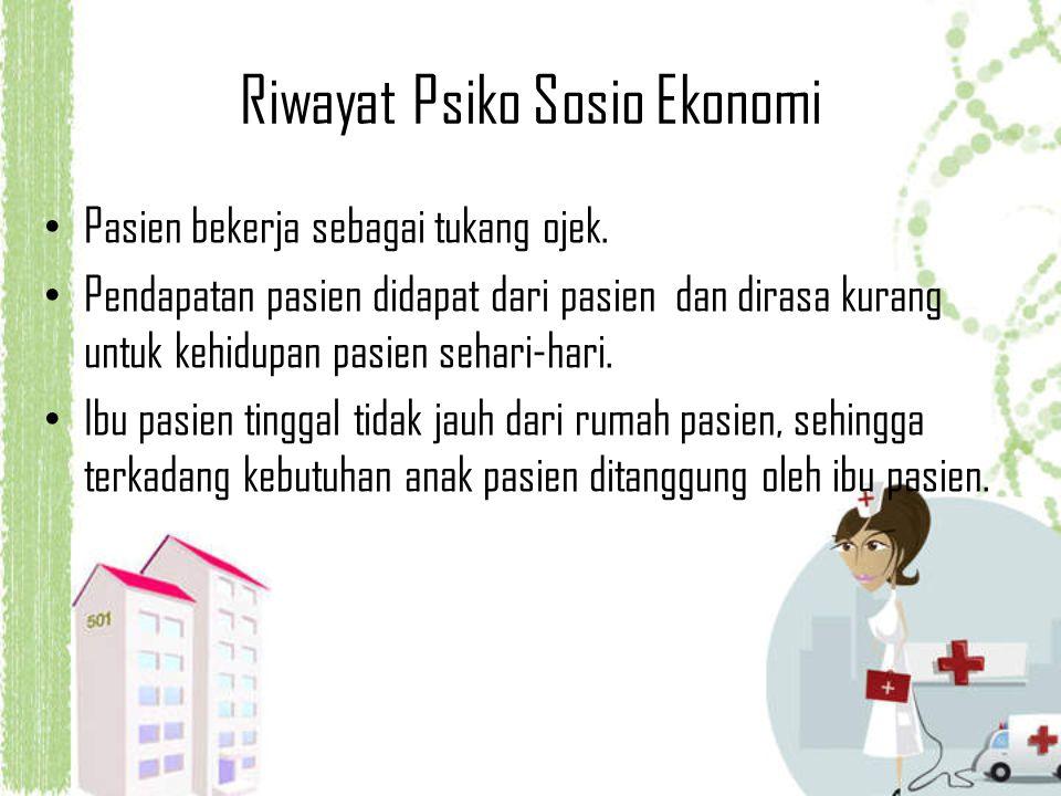 Riwayat Psiko Sosio Ekonomi