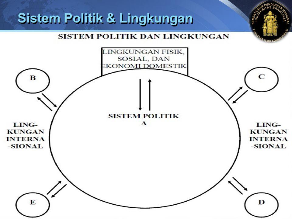 Sistem Politik & Lingkungan