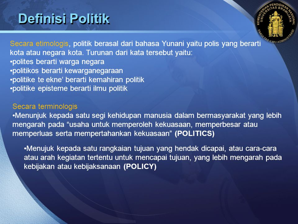 Definisi Politik