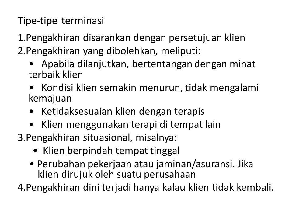 Tipe-tipe terminasi