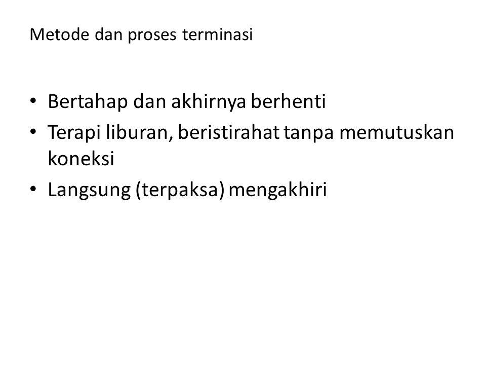 Metode dan proses terminasi