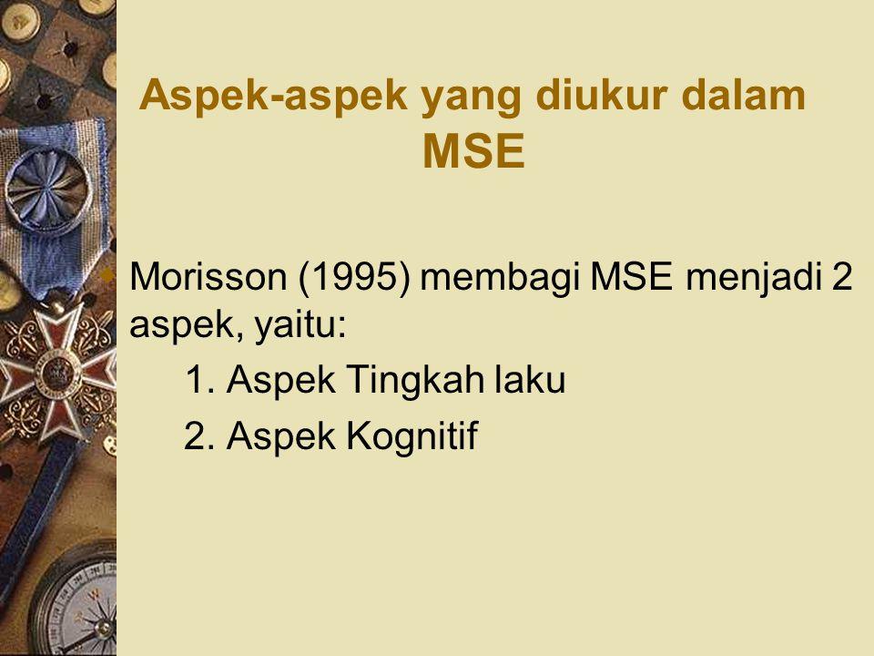 Aspek-aspek yang diukur dalam MSE