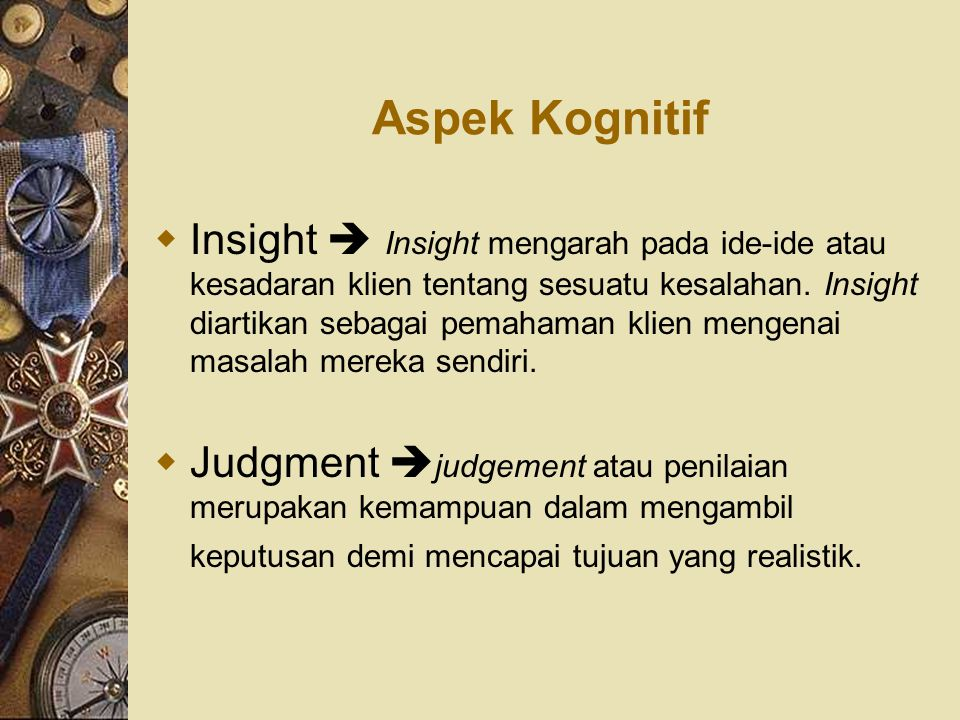 Aspek Kognitif