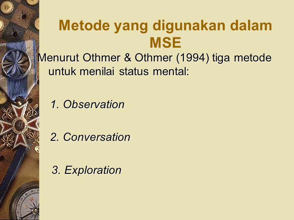 Metode yang digunakan dalam MSE