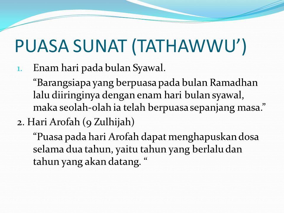 PUASA SUNAT (TATHAWWU')