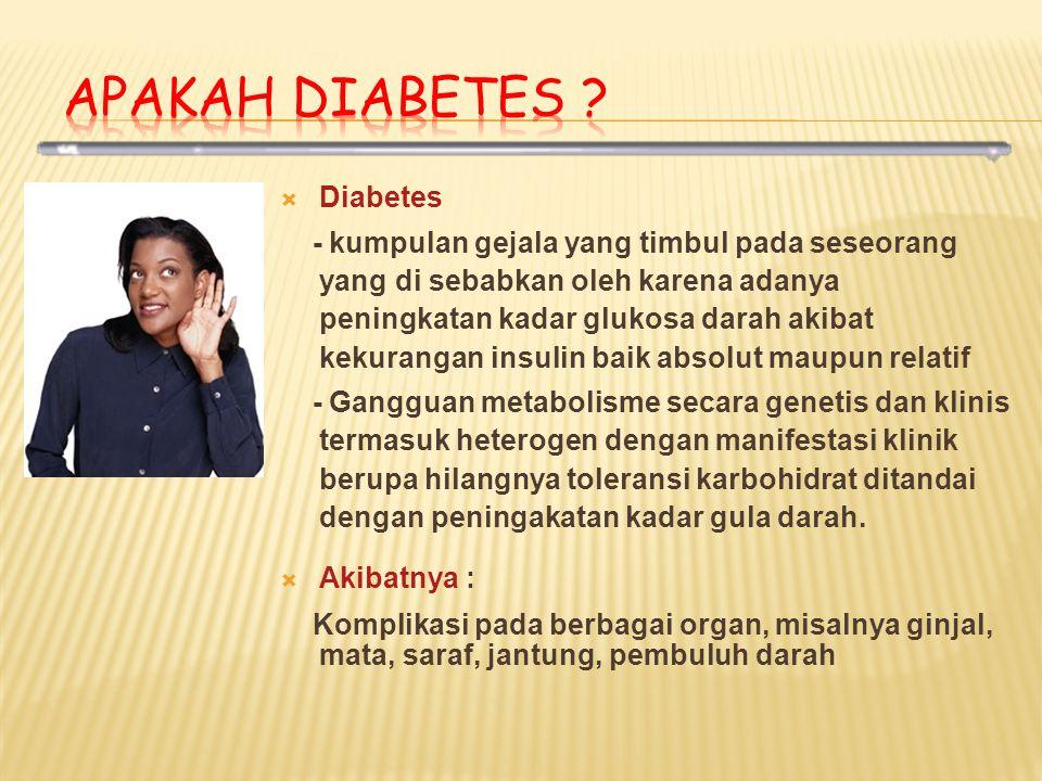 Apakah Diabetes Diabetes