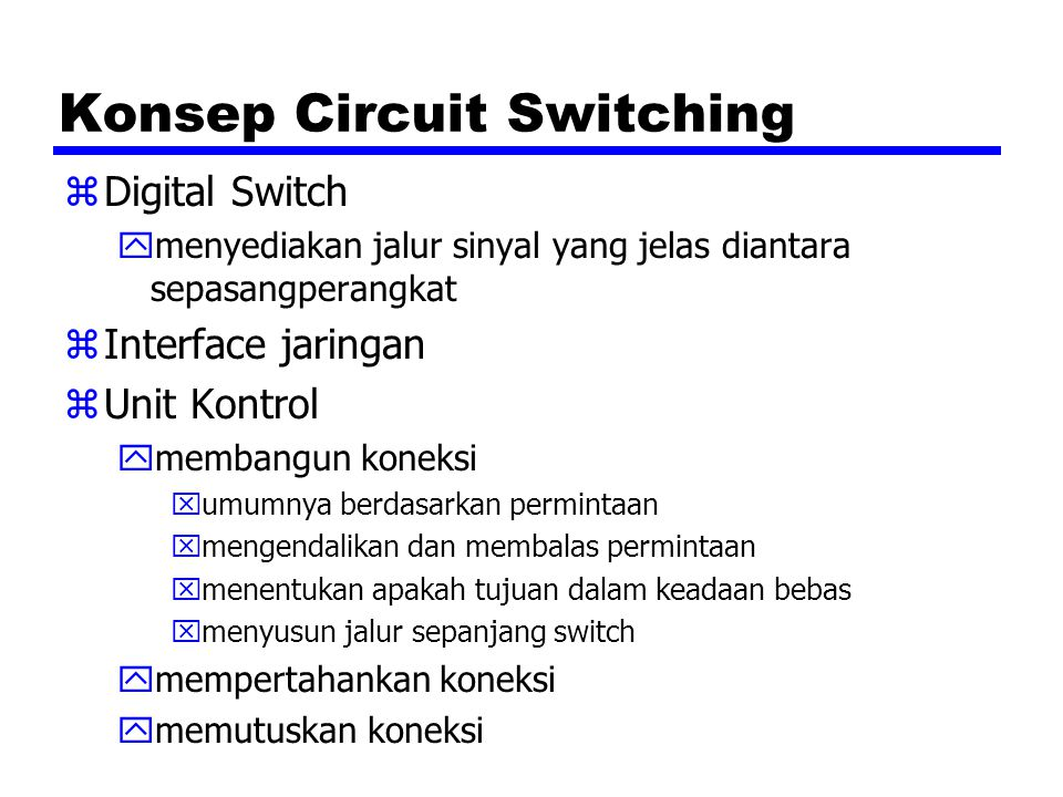 Konsep Circuit Switching