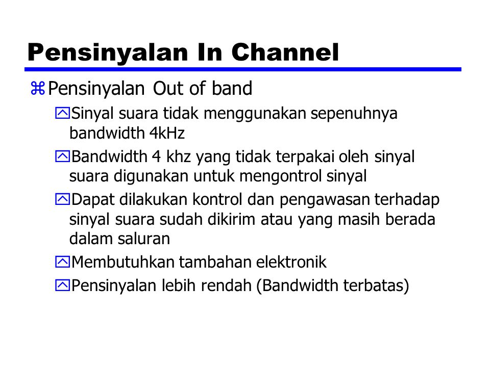 Pensinyalan In Channel