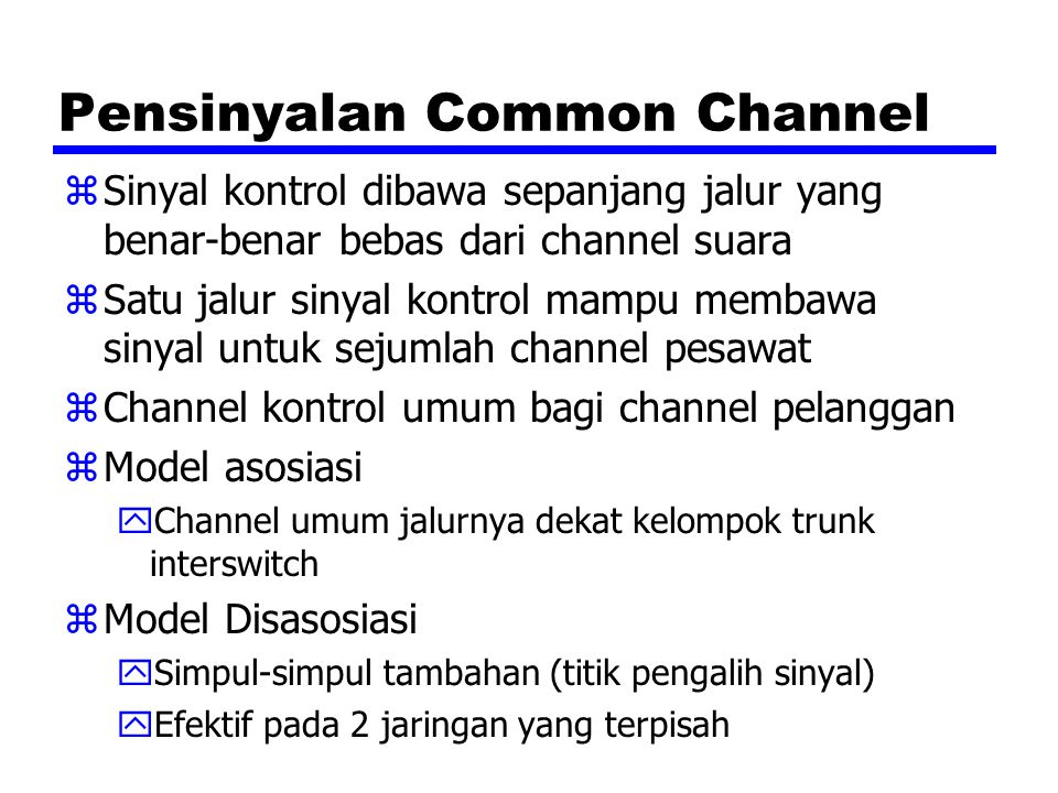 Pensinyalan Common Channel