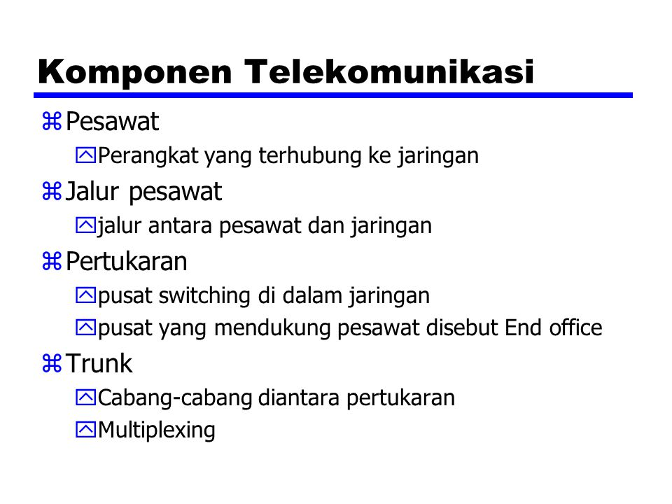 Komponen Telekomunikasi