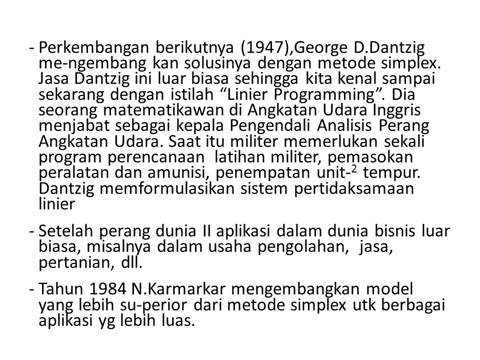Perkembangan berikutnya (1947),George D