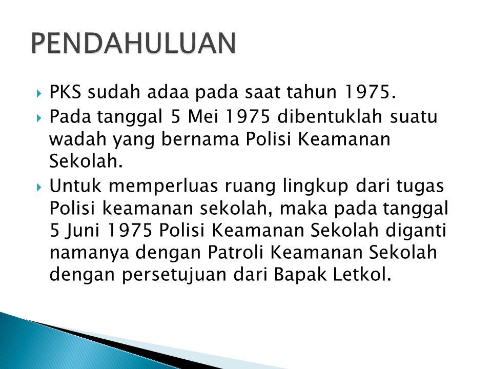 PENDAHULUAN PKS sudah adaa pada saat tahun 1975.