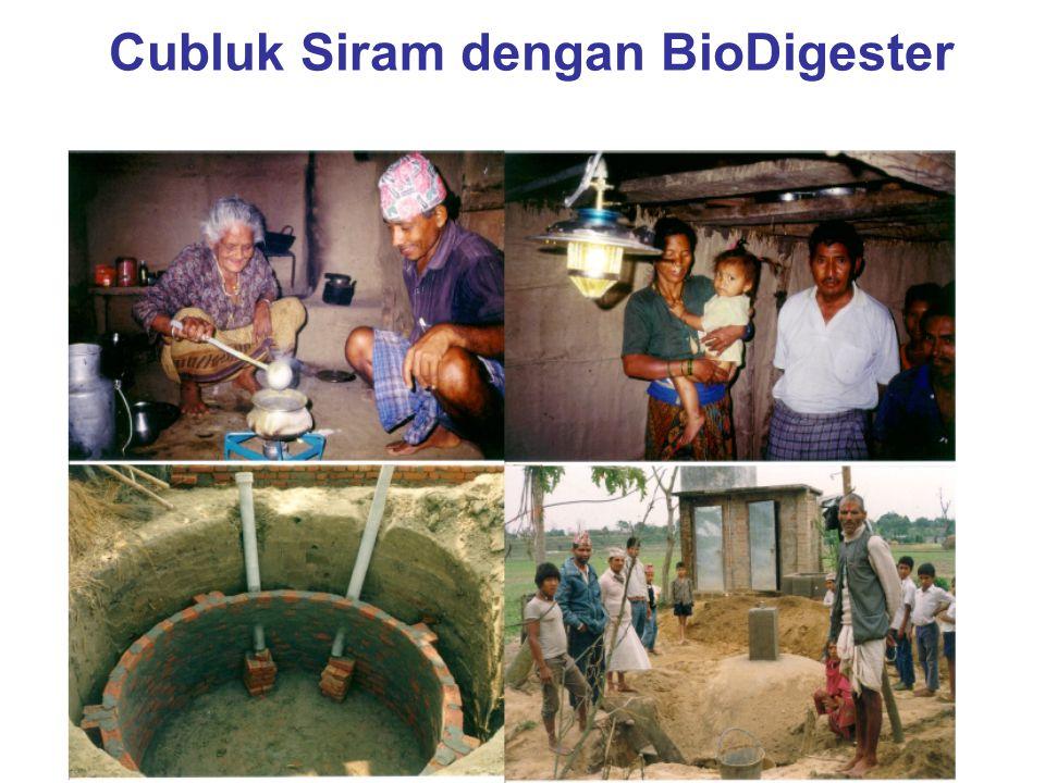 Cubluk Siram dengan BioDigester