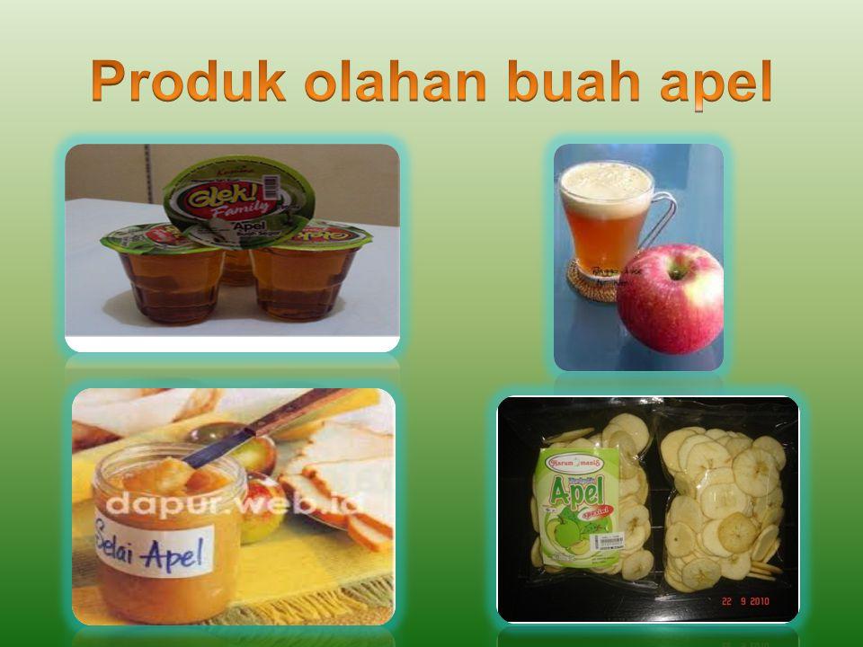 Produk olahan buah apel
